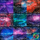 Watercolor Galaxy Paper {Astronomy Digital Backgrounds for Science Resources}