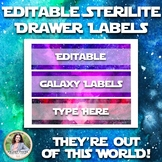 Watercolor Sterilite Drawer Labels: Galaxy, Space, Univers