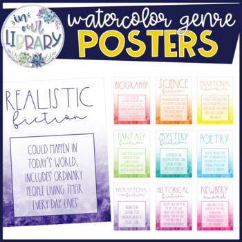 Watercolor Genre Posters