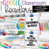 Google Classroom Headers & Digital Backgrounds (Watercolor