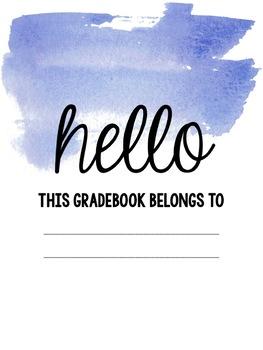 Watercolor Gradebook