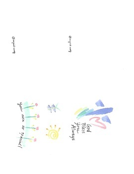 Watercolor Greeting Cards - God Bless You Always and You a
