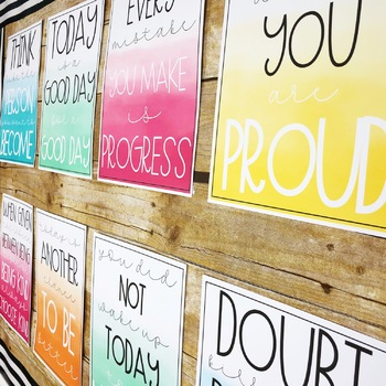 Watercolor Growth Mindset Posters
