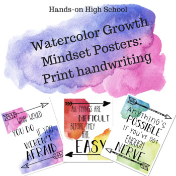 Watercolor Growth Mindset Posters-PRINT