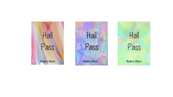 Watercolor Hall Pass Lanyards - Editable
