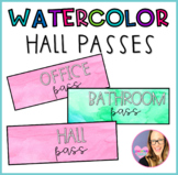 Watercolor Hall Passes
