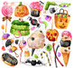 Watercolor Halloween Candy Clipart