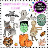Watercolor Halloween Clip Art