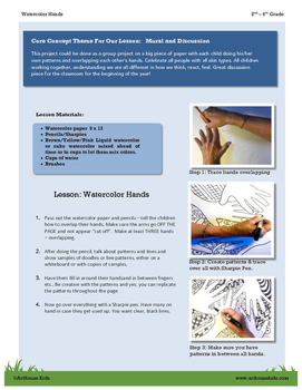 Watercolor Hands Lesson (Understanding One Another)