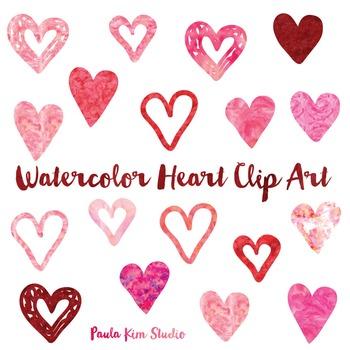 Hearts Clip Art: Watercolor