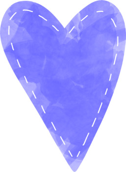 Watercolor Hearts Clip Art - Whimsy Workshop Teaching