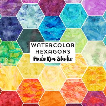 Watercolor Hexagon Clip Art