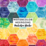 Watercolor Hexagon Clip Art