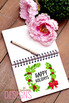 Watercolor Holly Jolly Wreath Christmas Digital Clip Art Set