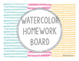 Board Labels- Watercolor