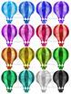 Watercolor Hot Air Balloons Clipart