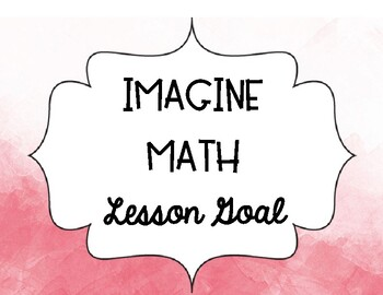 Watercolor Imagine Math Goal Chart