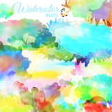 Watercolor Ink Blots and Splashes Clip Art