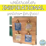 Watercolor Inspirational Posters
