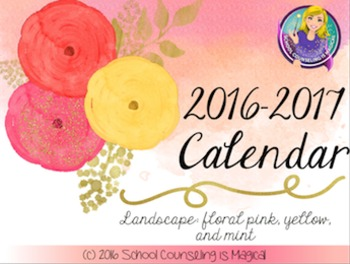 Watercolor Inspirational Quotes Calendar