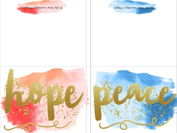 """Watercolor """"Inspirational Gold"""" Note Cards and Post Cards"""
