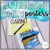Music Decor - Watercolor Instrument Family Posters