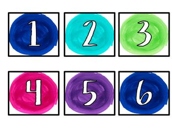 Watercolor Jewels Classroom Decor Set
