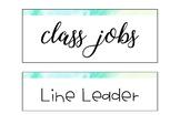 Watercolor Job Chart