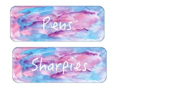 Watercolor Label Tags