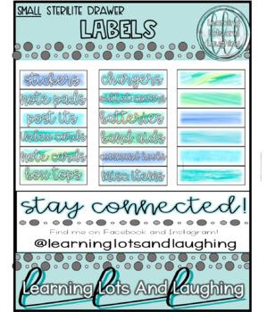 Watercolor Labels!