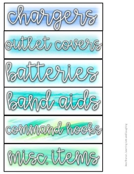 Watercolor Labels! (Small Sterilite Drawers)