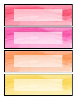 Watercolor Labels EDITABLE