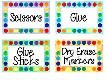 Watercolor Labels *FREEBIE*