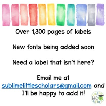Watercolor Label Bundle ***ALL LABELS INCLUDED***