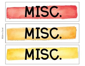 Watercolor Labels Misc. Freebie