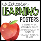 Watercolor Learning Posters
