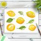 Watercolor Lemons Clipart, Hand Painted Citrus, Watercolor Clipart, Food Graphic