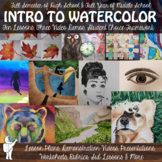 *High School Watercolor Painting Curriculum; Full Watercolor Course