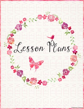 Watercolor Lesson Plans Book Cover by Johnson Creations | TpT