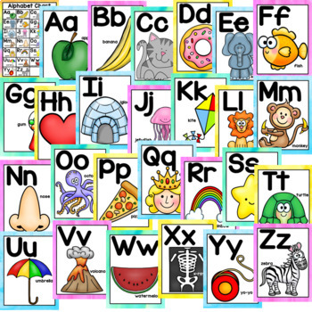 Letter Posters - Alphabet Posters
