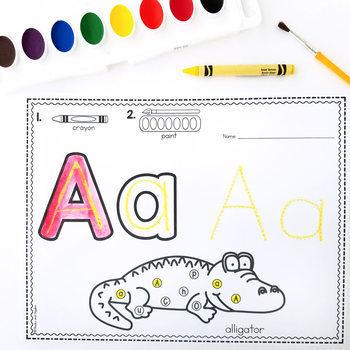 Watercolor Letter Recognition Worksheets