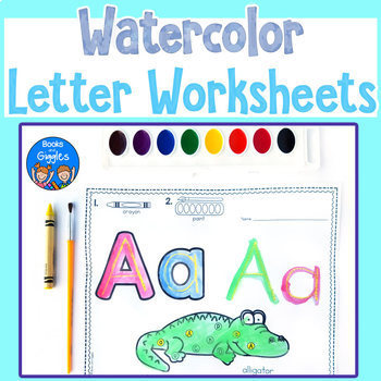 Watercolor Letter Recognition Worksheets