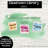 Watercolor Library Labels