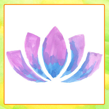 Watercolor Lotus Flowers / Water Lilies Floral Clip Art Commercial Use