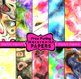 Watercolor Love Heart Clip Art Shapes