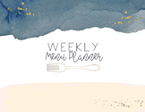 Watercolor Meal Planner and Master Recipe List
