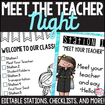 Watercolor Meet The Teacher