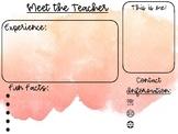 Watercolor Meet the Teacher