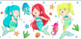 Watercolor Mermaid & Under the Sea Inspired Clip Art {Miss Clip} Commercial Use
