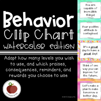 Watercolor Mix-and-Match Behavior Clip Chart
